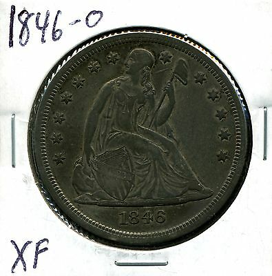 1846-O $1 Seated Liberty Silver Dollar in XF Condition