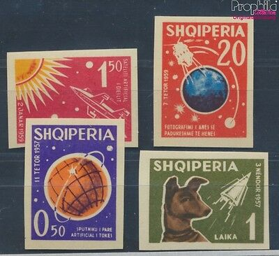 Albania 668-671 unmounted mint / never hinged 1962 Space (7578359