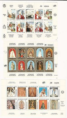 Venezuela: Between year 1986 and 1995 5 sheet of 10 thematic religion. VE1192