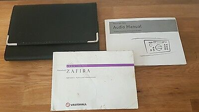 Genuine Vauxhall Zafira Owners Manual Handbook Document Pack Wallet (2000)