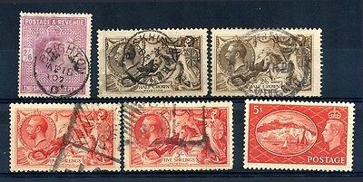 Great Britain #139/312 mint hinged & used selection