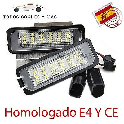 Plafon Led Matricula Golf Polo Scirocco Beetle Homologado E4 Luces Led Seat Leon