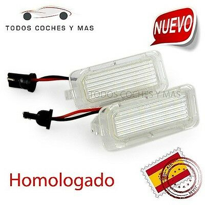 Plafones Led Matricula Ford Fiesta Focus Mondeo Homologado E11 Ce Luces Led