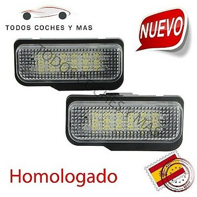 Plafones Led Matricula Mercedes Homologado E4 W203 5D W211 W219 W171 Luces Led