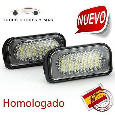 Plafones Led Matricula Mercedes W203 C Class Homolagados E11 Luces Led Matricula