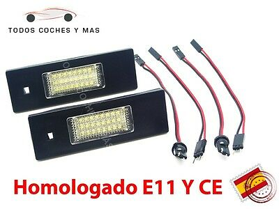 Plafones Led Matricula Bmw E81 E86 E87 E63 E64 Homolgados E11 Luces Led Matricul