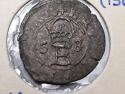 ESTONIA under SWEDEN ERIC XIV SCHILLING 1568. RARE