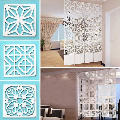 Newly Room Dividers Folding Hollow Out Screen Panels Living Room Partition 4PCS