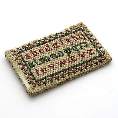 RARE Antique Miniature Double Sided Sampler c. 1830 ~ AAFA