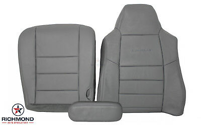 2005 Ford F350 4x4 Lariat Diesel -DRIVER Side COMPLETE Leather Seat Covers GRAY