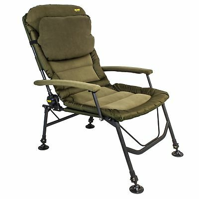 Chillzone Super Recliner Chair Karpfenstuhl mit Armlehnen Angelstuhl Anglerstuhl