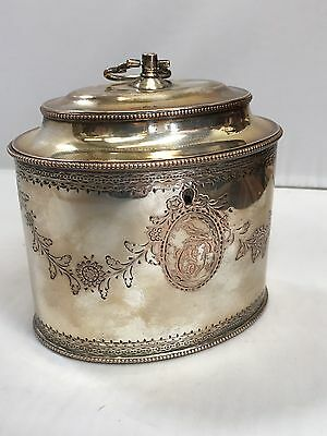 Superb Quality Late Georgian Silver Plate Tea Caddy. Offers?