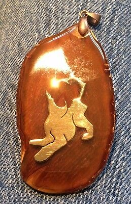 Afghan Hound Pendant on Stone slice