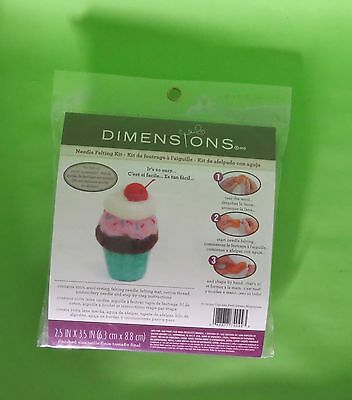 Needle Felting Kit - Everything to Complete Cat, Cupcake, Frog or Turtle Designs