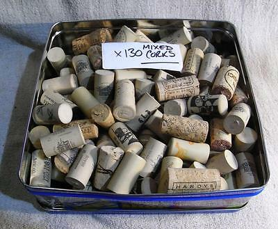Tin x130 Mixed Used Wine Corks Some Real Cork Some Acrylic Ideal Crafting Artist