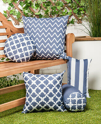Merveilleux Charcoal Grey Arabesque Collection Outdoor Cushions Waterproof Garden  Filled Pad