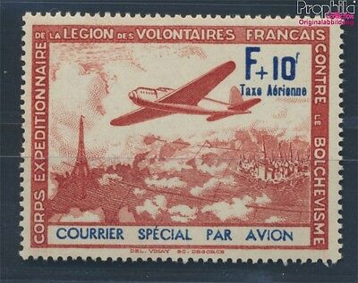France  German cast WW2 III / IV MNH 1941 LVF (8100927