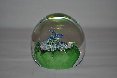 Caithness Royal Mint Myriad Glass  Paperweight Vintage