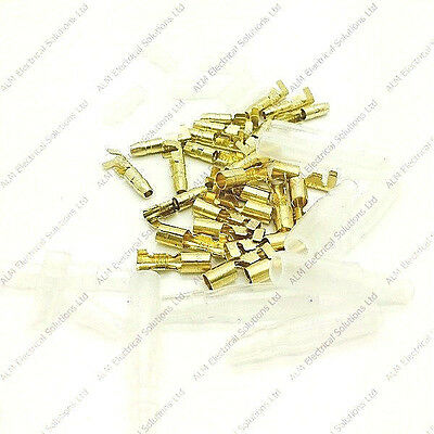 Non-Insulated Brass 3.9mm Bullet Connector Terminals & Covers - Japanese Type