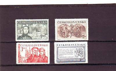CZECHOSLOVAKIA - SG583-586 MNH 1950 5th ANNIV OF REPUBLIC