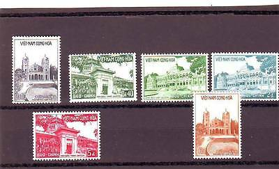 a123 - VIETNAM - 1958 ISSUE MNH 6v CATHEDRAL/MUSEUM/PALACE