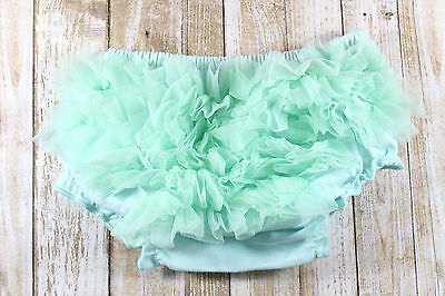 Baby girl diaper covers,mint diaper cover,kids underwear,ruffle diaper covers