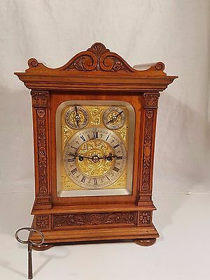 Stunning Walnut Double Fusee Bracket Clock, Fabulous Engraved Dial