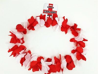 Garland England Red & White flowers Fun football