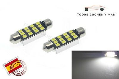 2 X Bombillas Led Coche Canbus Festoon 41Mm C5W 12Led Smd 2835 248Lm Matricula