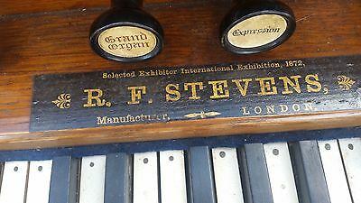 R. F. STEVENS LONDON 1872 harmonium Church model Very Rare / ANTIQUA /vintage