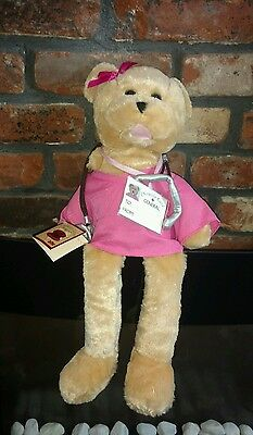 """Chantilly Lane 19"""" Scrubs Female Bear Sings """"Ill Be There"""" Nurse Doctor With Tag"""