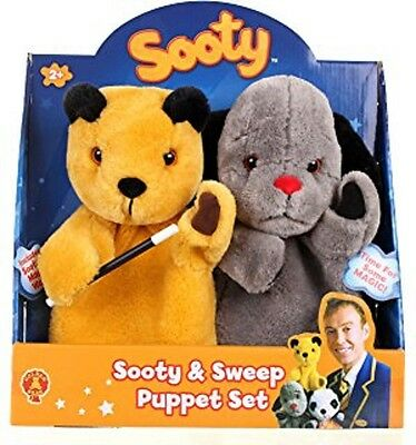Golden Bear - The Sooty Show - Sooty & Sweep 2 Pack Puppets - Brand New!