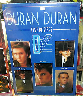 Duran Duran Poster Pack Vintage Out Of Print Sealed Late 80's Early 90's 5 Pack