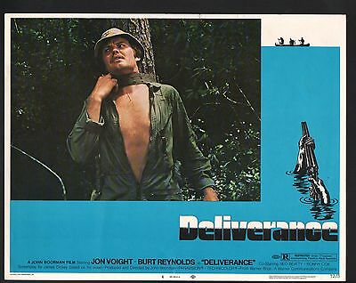 Deliverance Lobby Card-Jon Voight strapped to a tree.