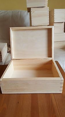 Wooden Plain Pine Rectangular Box for Decoupage Craft 22 x 16 cm Brand new
