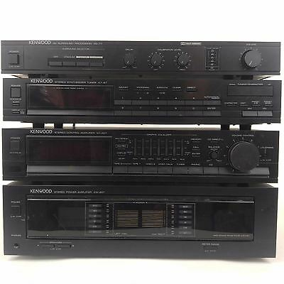 Kenwood Stereo System w/ KT-87 Tuner, SS-77 Surround Processor, KC-207 Amplifier
