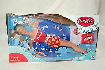 Barbie Coca Cola Coke 1999 SPLASH with Inflatable Tube Swimming #25590 *NIB*