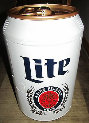 "New Miller Lite Retro Beer Can 11"" Refrigerator Mini Small AC Outlet Car Adapter"