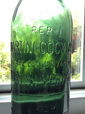 Early Embossed Martini Cocktails bottle - Gorgeous bottle