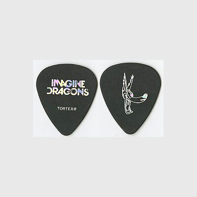 Imagine Dragons Daniel Wayne Sermon authentic 2013 tour silver foil Guitar Pick
