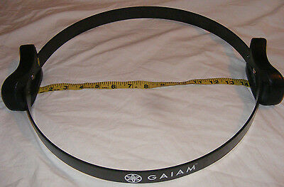 """GAIAM Deluxe 14"""" Workout Ring Flexible Black Pilates - New Without Tags"""