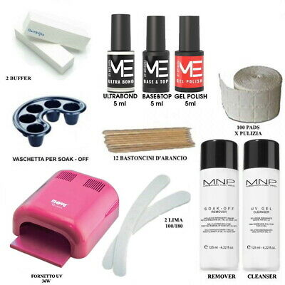 Kit Smalti Semipermanente Unghie Gel Polish 5ml Mesauda con Fornetto UV 36w PRO