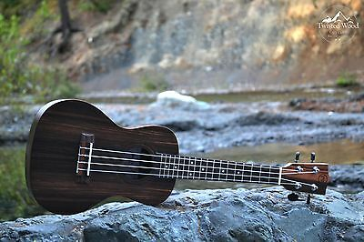 Concert Ukulele Ebony - The Dorado by Twisted Wood Guitars w/ Gig Bag