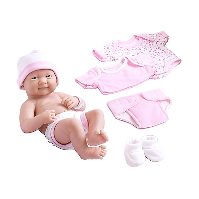 Realistic Baby Doll Girl Newborn Pink Dress Nursery Soft Toys 14 Inches Reborn