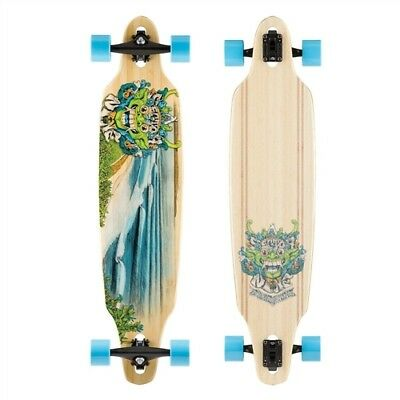 Sector 9 Bamboo 2016 Lookout Face Longboard Complete Natural Blue 41x9.62