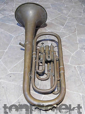PROJECT old antique G. HIRSBRUNNER tenor brass Horn Euphonium Aarau SWISS