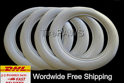 """#366 ATLAS BRAND 15/"""" WHEEL 3 INCHES WIDE 4 NEW WHITE WALL SET.FREE SHIPPING"""