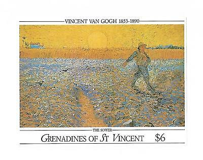 Grenadines St.vincent 1991 #768 S/s Vf Nh, Painting Of Vincent Van Gogh !!