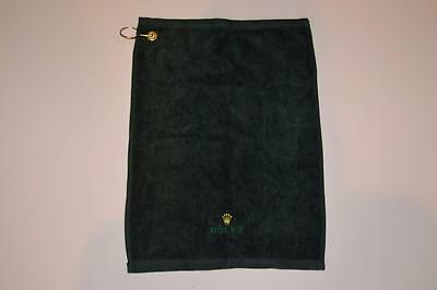 "Rolex Golf Towel  12"" X 17.5"" Green New 100% Authentic"