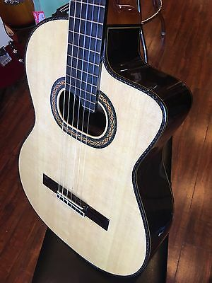 Takamine TH90 Hirade Concert Classical Acoustic/Electric Guitar w/ Case